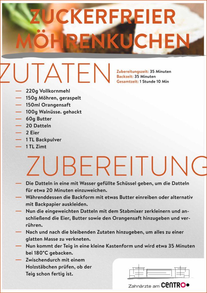 Rezept Möhrenkuchen-Magazin